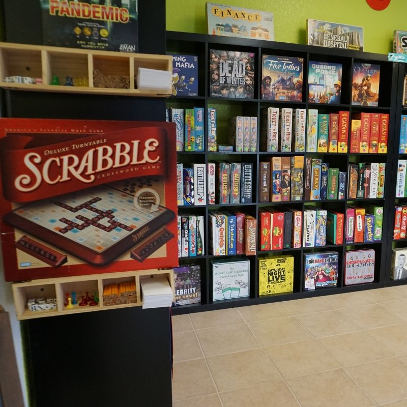 Hundreds of Board Games Available to Play at Table Talk SRQ in Bradenton, Fla., Sept. 2019.
