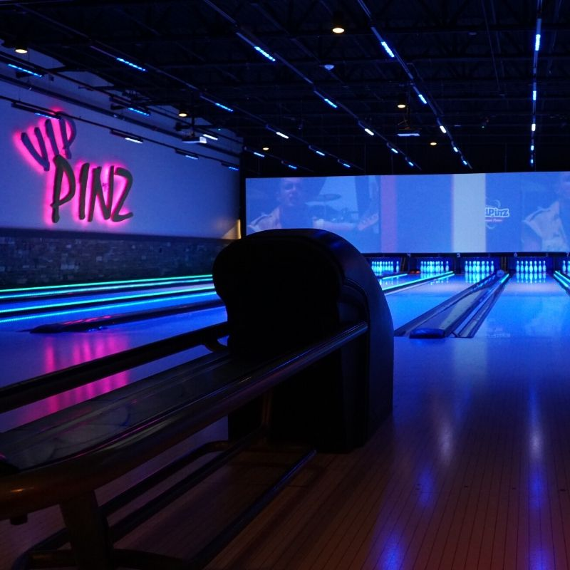 VIP Bowling Lanes at HeadPinz in Fort Myers, Fla., Sept. 2019.