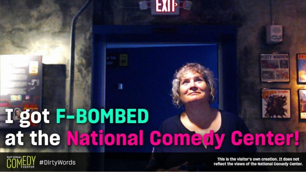 """My Reaction When Entering the National Comedy Center's Blue Room. """"I Got F-Bombed."""" #DirtyWords"""