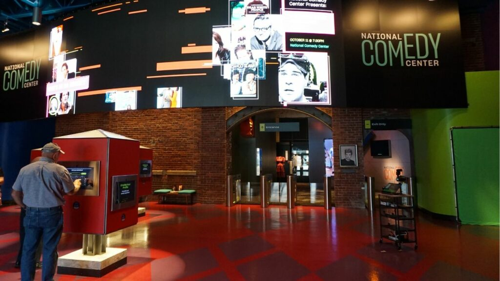 Lobby and Entrance of the National Comedy Center in Jamestown, N.Y.