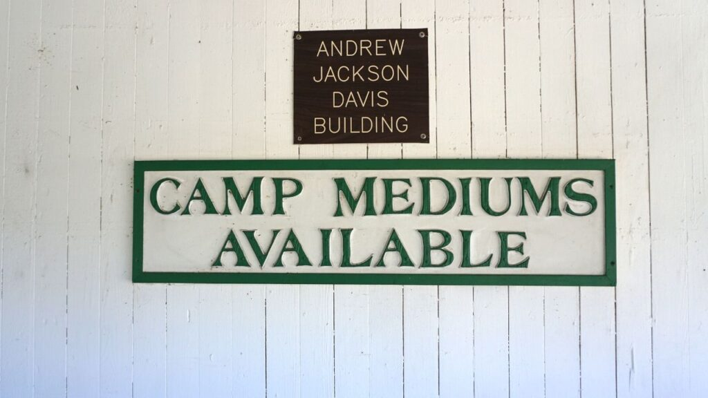 """Camp Mediums Available"" at Cassadaga Spiritualist Camp, West Volusia County, Fla., Oct. 2019."