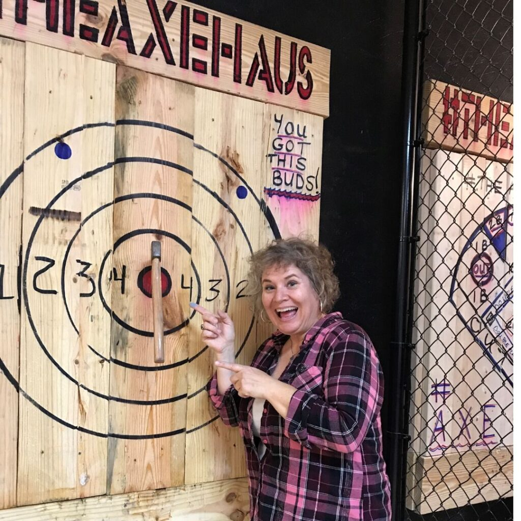 That's Me with Another Bullseye at The Axe Haus in North Port, Fla.