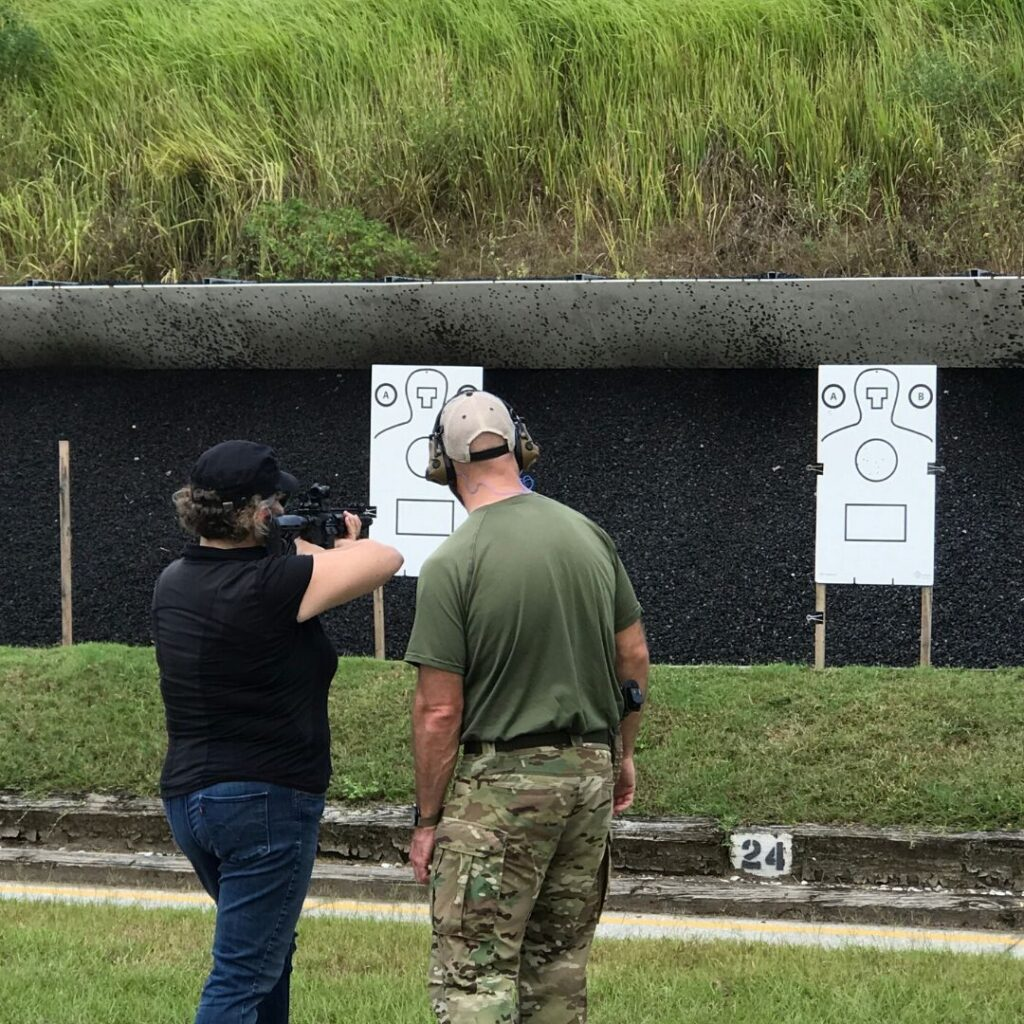 Trying My Hand with an FBI Firearm, Fall 2019.
