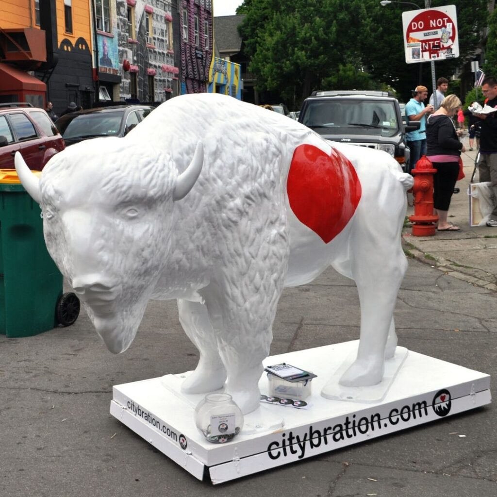 Buffalo Love by CityBration.com at the Allentown Art Festival, Buffalo, N.Y., Aug. 2014.