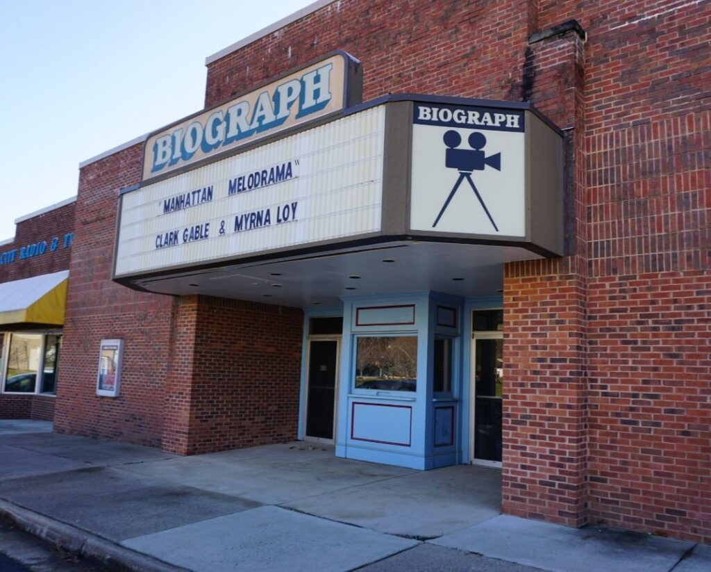 The Biograph Theater in Hogan's Alley at the FBI Academy in Quantico, Va., Dec. 2019.