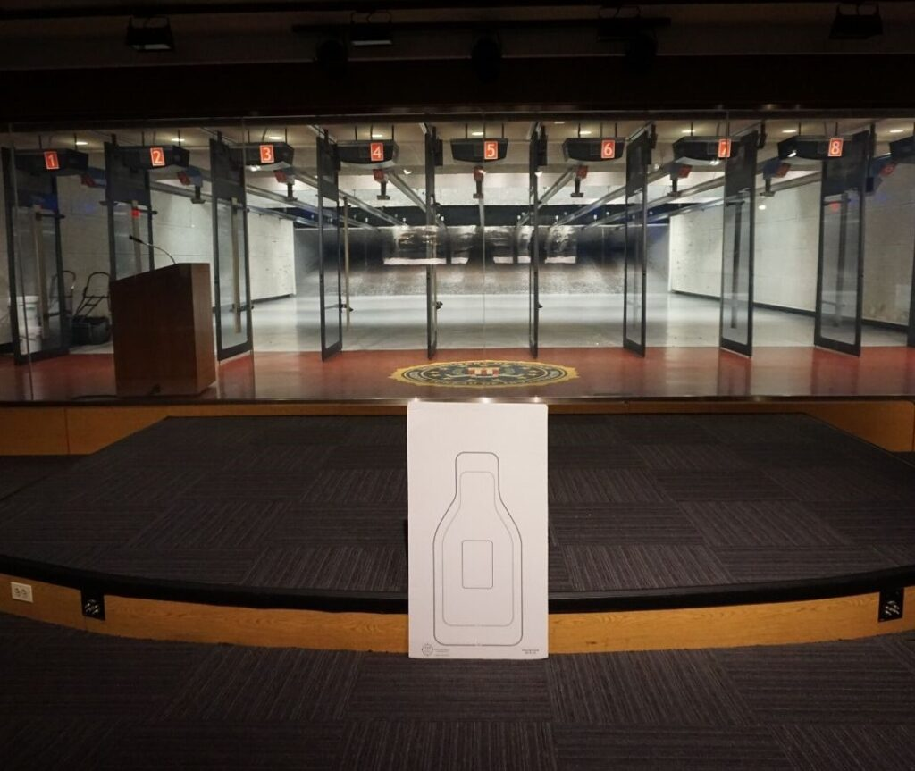 Indoor Range at the FBI Experience in Washington, D.C., Dec. 2019.