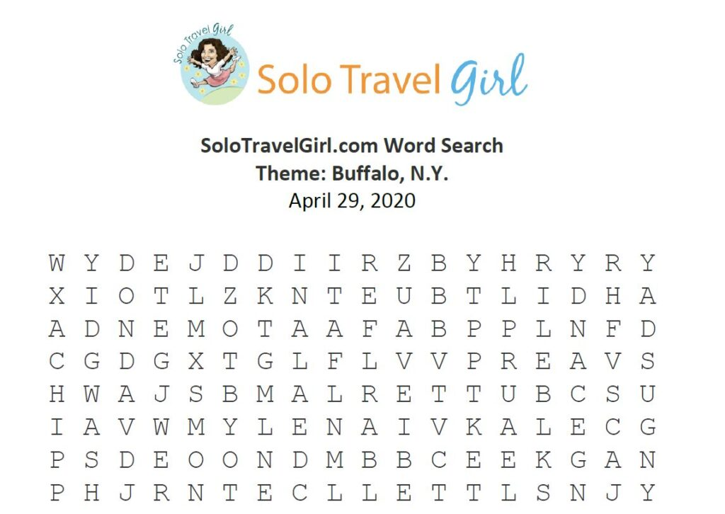 Looking for Things to do Under Quarantine? How About a Word Search? This Week's Theme: Buffalo, N.Y., my Hometown!