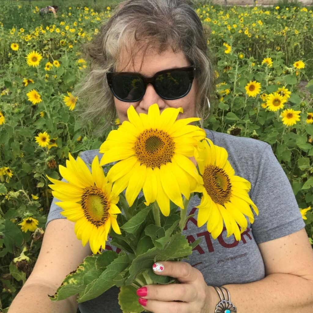 My Sunflower Selfie at Hunsader Farms in Bradenton, Fla., May 9, 2020.