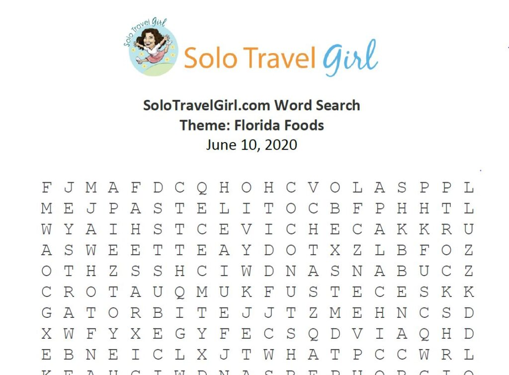 Looking for Things to do Under Quarantine? How About a Word Search? This Week's Theme: Florida Food.