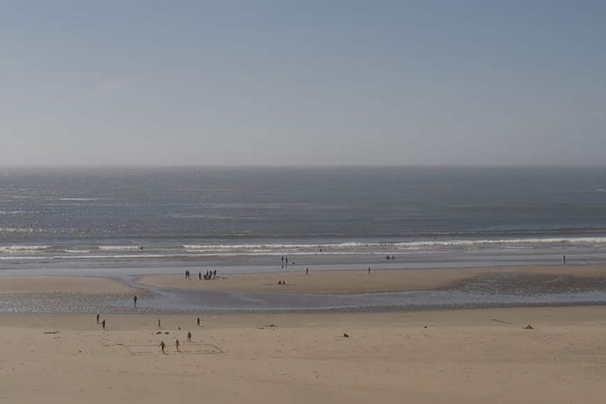 The View of Agate Beach in Newport, Oregon, as Viewed from the Beach Cam.