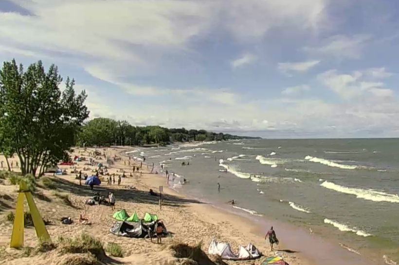 Lake Michigan Beach Cam.