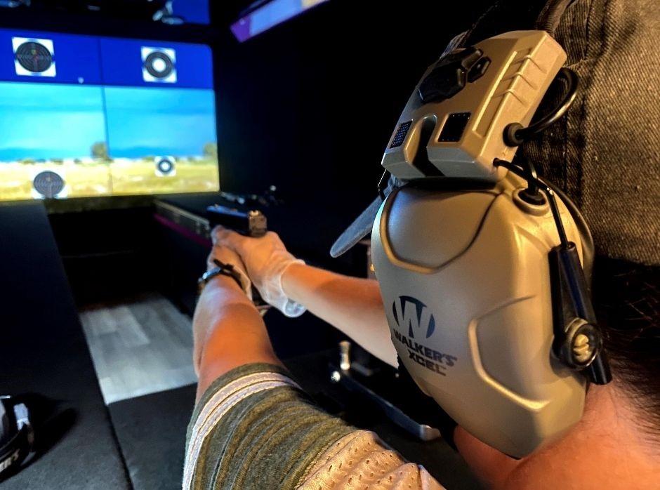 Shoot Like a Girl Mobile Range: Fire a Handgun. Image Courtesy of Karen Butler/Shoot Like A Girl