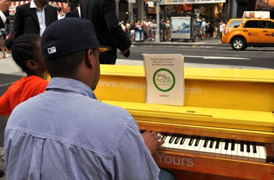 Sing for Hope in New York City.