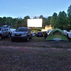 HipCamp Stay in North Georgia: Tiger Drive-In Theater in Tiger